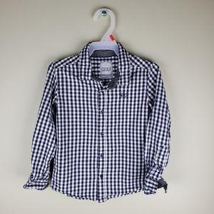 Hop Blue Checkered Button Down Shirt Sz3
